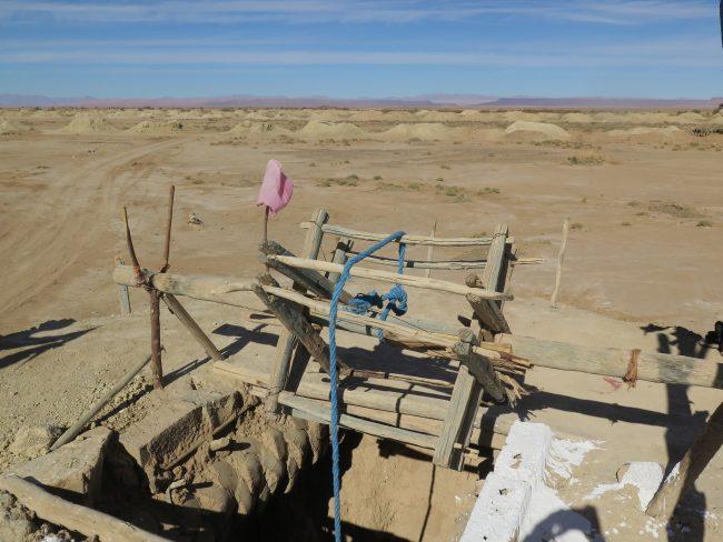 Extracción del agua en el desierto