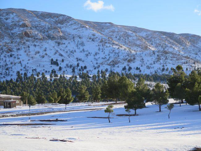 Paisaje nevado de Marruecos