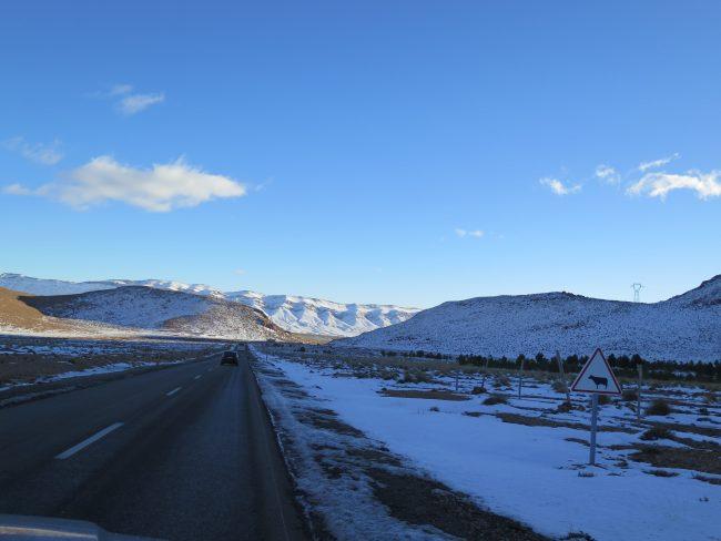 Nieve en el Alto Atlas