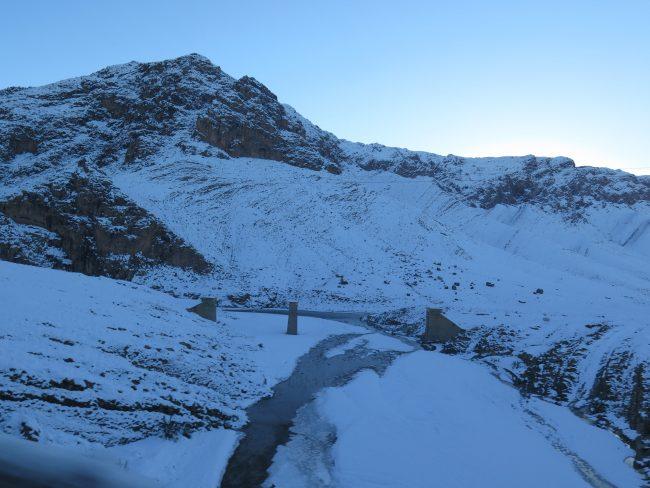 Nieve en el Río Ziz