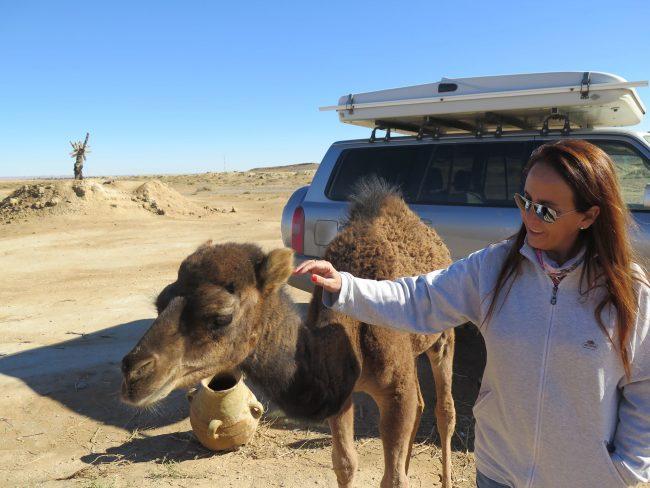 El Mundo con ella en el Desierto