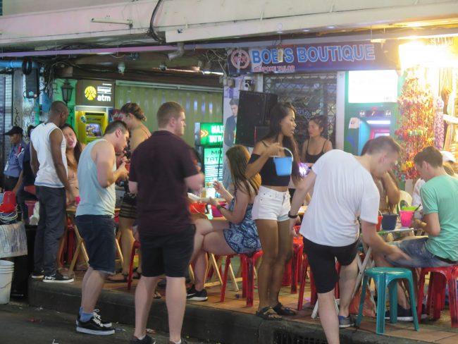 Ambiente nocturno en Bangkok