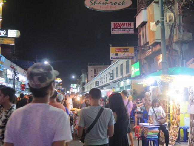 Ambiente en Khao San Road