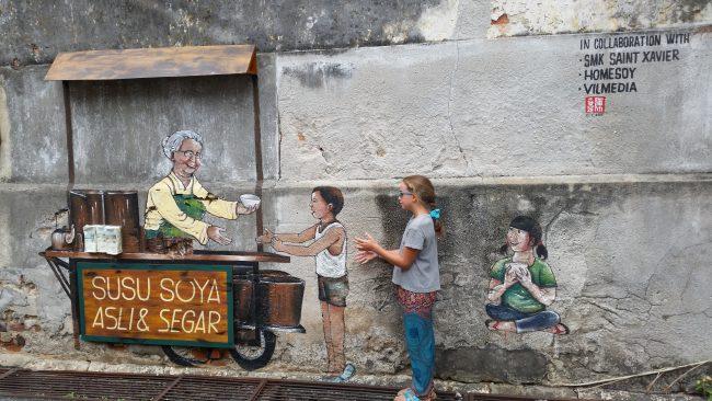 Mural en Penang