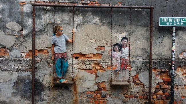Interactuar con el arte urbano