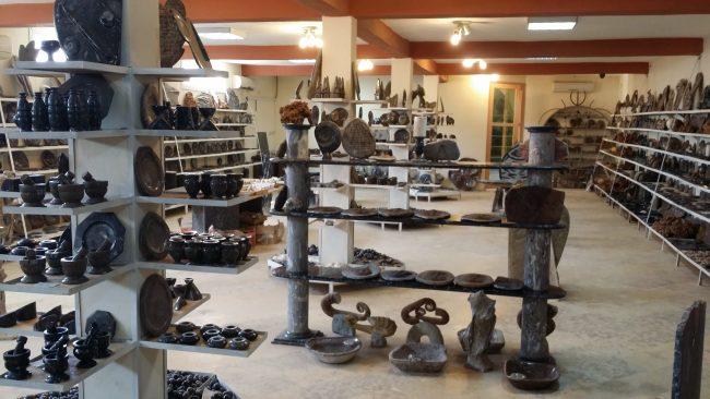 Exposición y venta de fósiles Erfoud