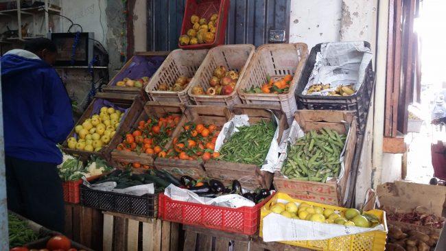 Frutas y verduras en Rissani