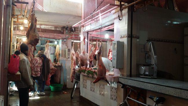 Carnicería de productos frescos