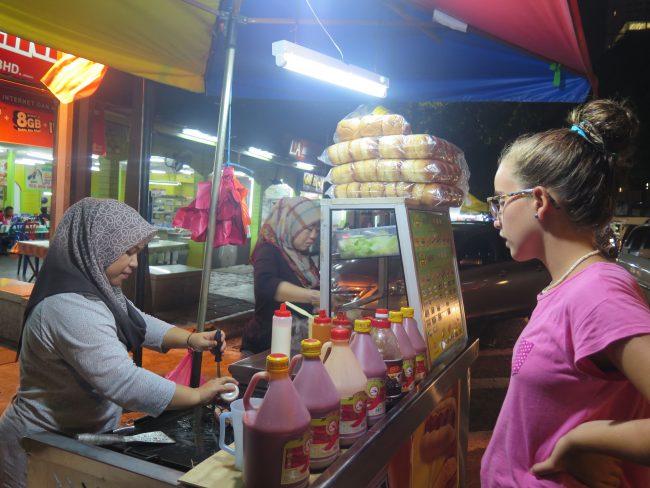 Comida callejera Malasia