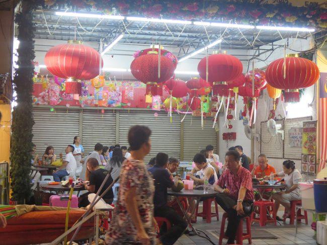 Comida típica china en Kuala Lumpur