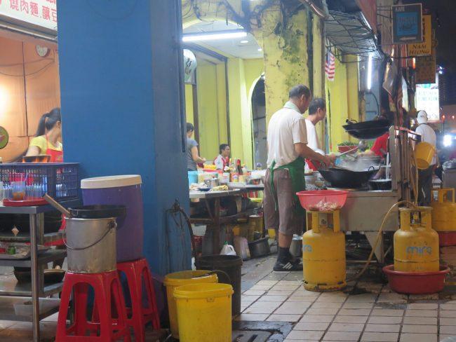 Restaurantes callejeros de Kuala Lumpur