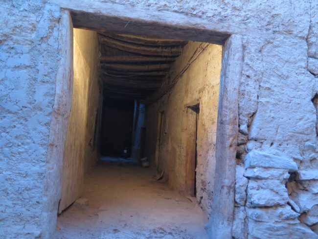 Típica estructura techada de los ksars del Tafilalet