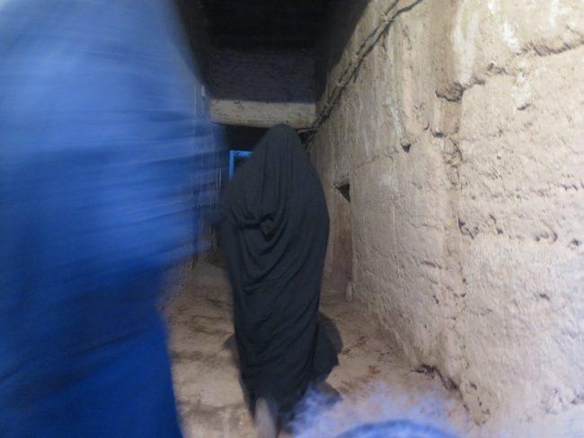 Mujeres cubiertas del desierto