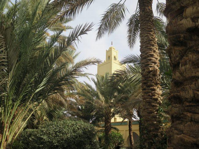 Jardines del Mausoleo de Moulay Alí Cherif