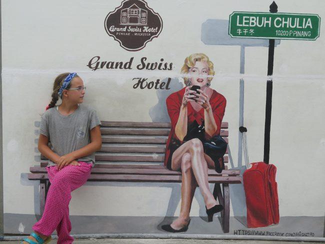 Precioso mural de Marilyn Monroe