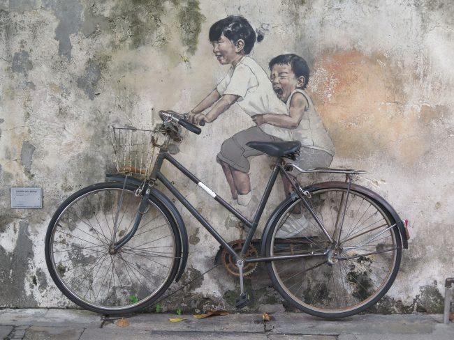 Principal obra del arte urbano en Penang