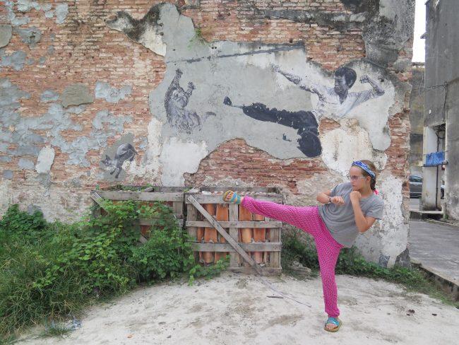 Paredes pintadas en Malasia