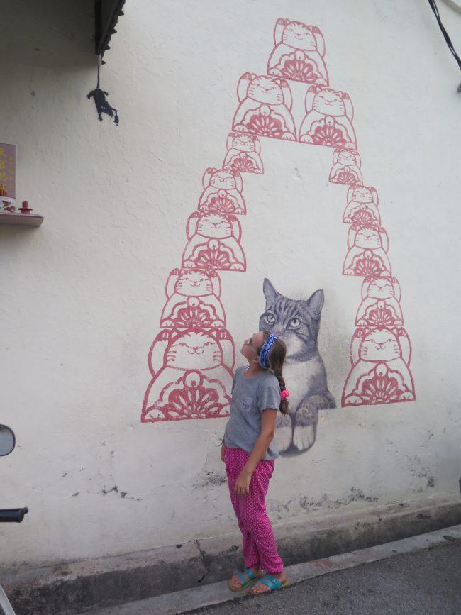 Murales de Gatos en Penang
