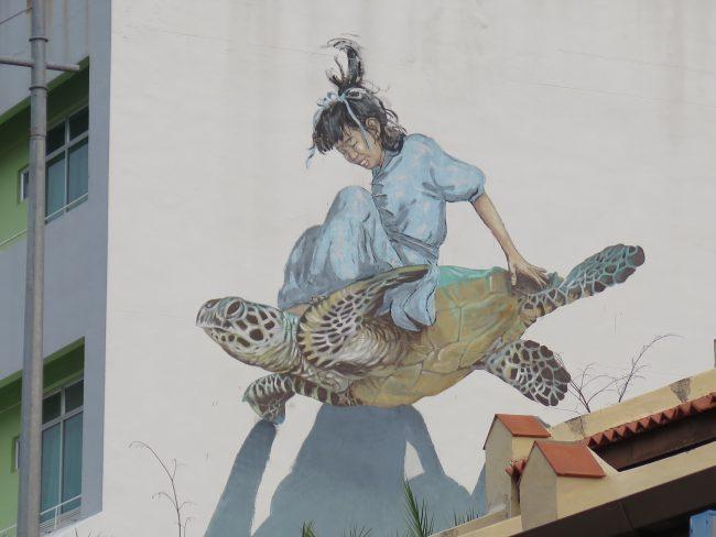 Precioso mural en las calles de Georgetown