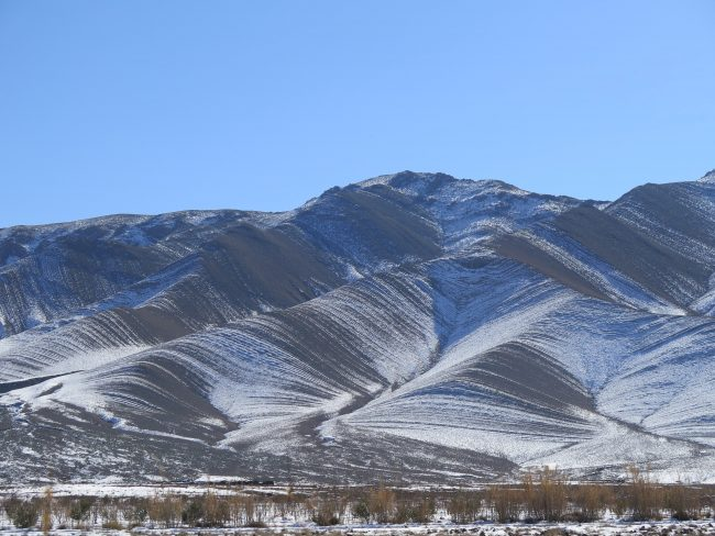 Paisaje nevado del Valle del Ziz