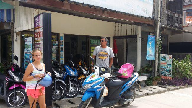 Alquiler de motos en Tailandia