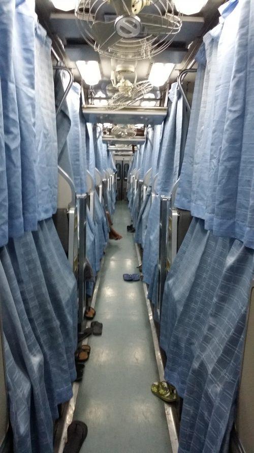Trenes con camas en Tailandia