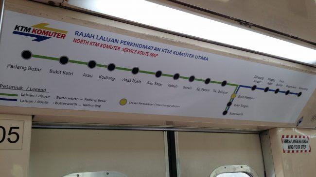 Trenes de Tailandia a Penang
