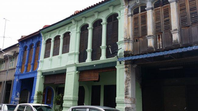 Fachadas coloniales de Penang