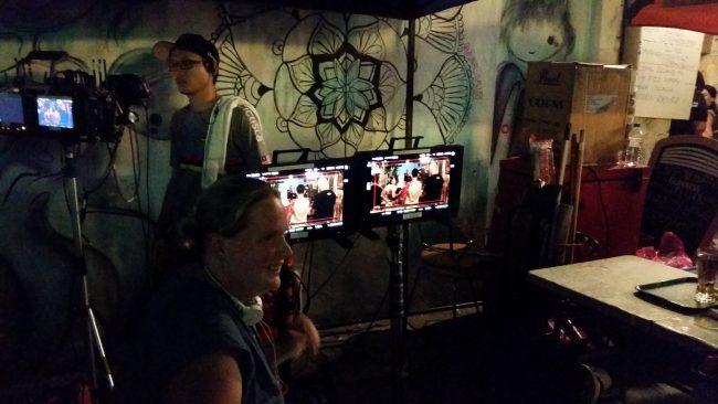 Grabación de una serie televisiva en Georgetown