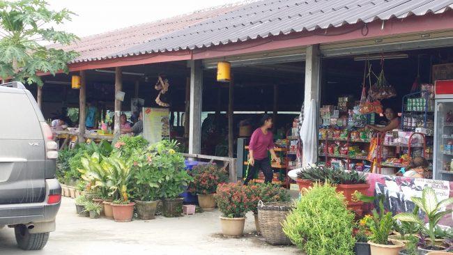 Establecimientos en las carreteras de Laos