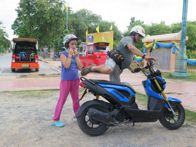 Principal medio de transporte en las ciudades de Tailandia
