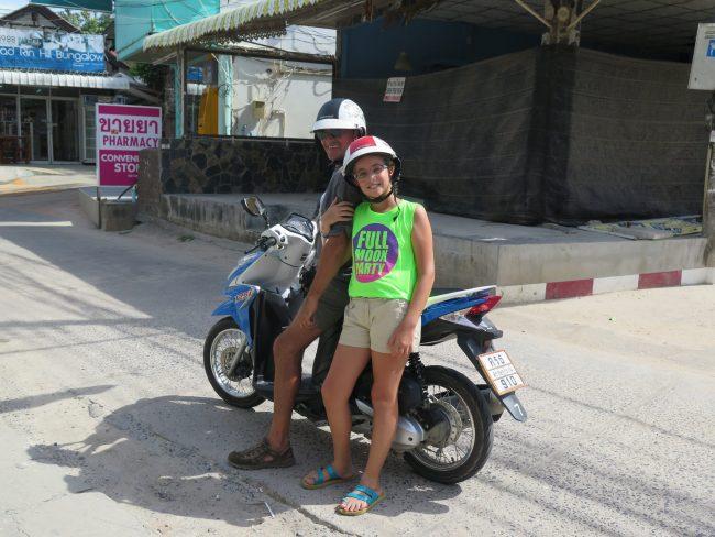 Desplazamientos en moto Tailandia