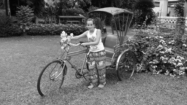 Antiguo rickshaw de Chiang mai