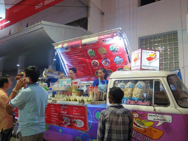 Puestecillos de comida Kanchanaburi