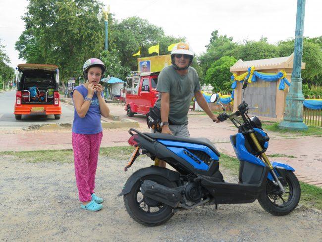 Opciones de transporte para visitar  Ayutthaya
