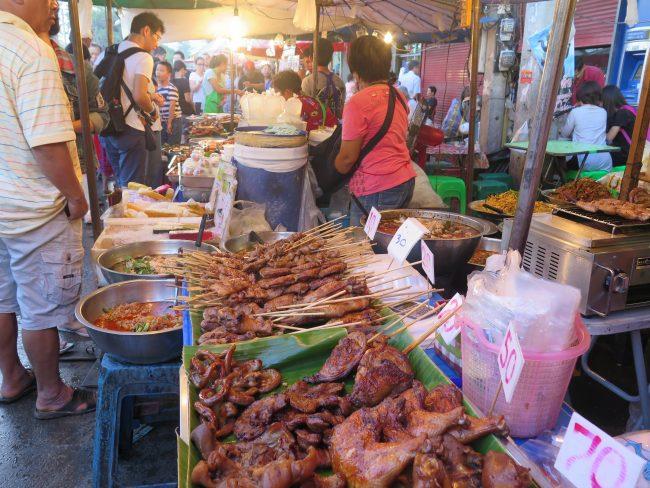 Mercado del sábado en Chiang Mai