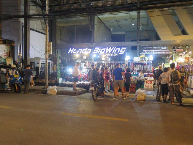 Mercado del domingo en Chiang Mai