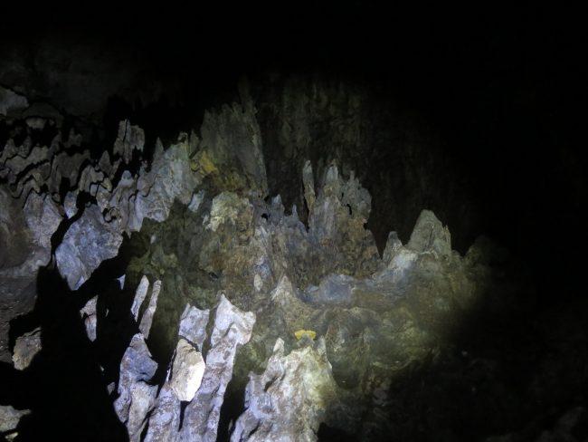 Interior de la Cueva de la Blue Lagoon