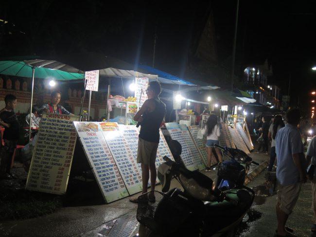 Comer barato en Laos