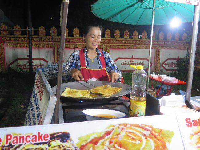 Comida de la calle en Laos