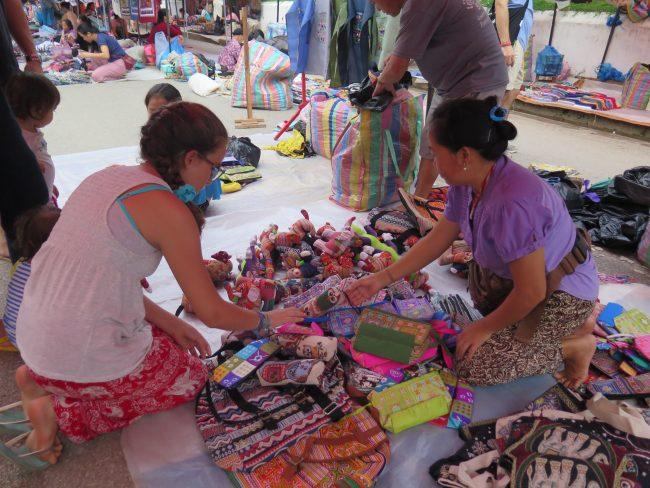 Compras en Luang Prabang