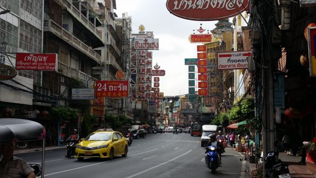 Negociar un taxi en Bangkok