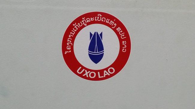 Daños de los bombardeos en Laos