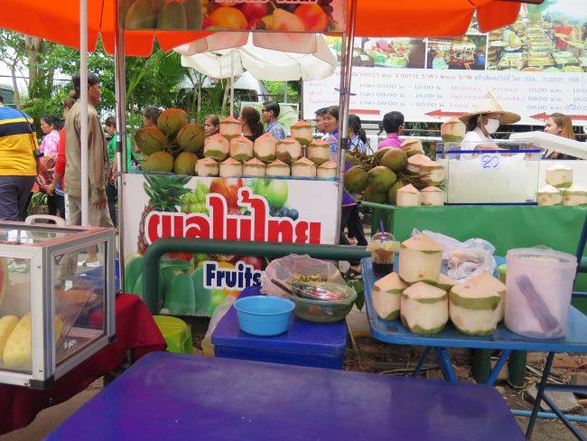 Cocos frescos de Asia