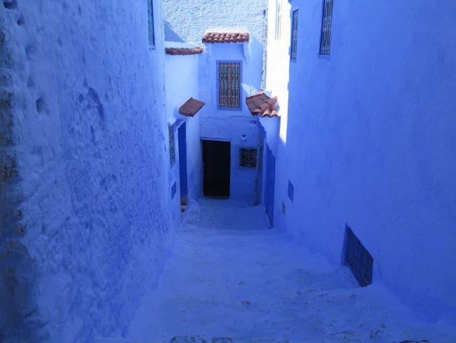 Color  azul distintivo de Xauen