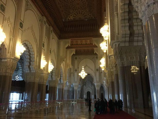 Interior mezquita de Hassan II