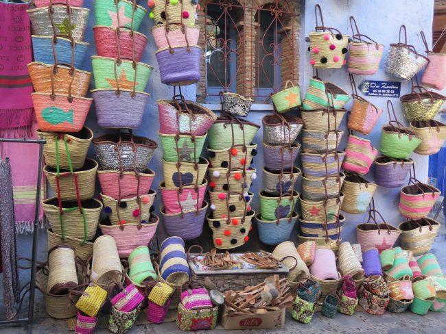 Cestas de mimbre típicas de Marruecos
