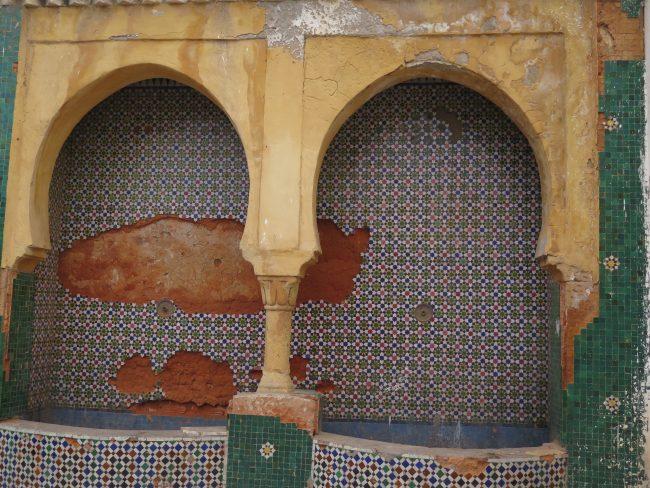 Arquitectura interior de la Kasbah de los Oudaias