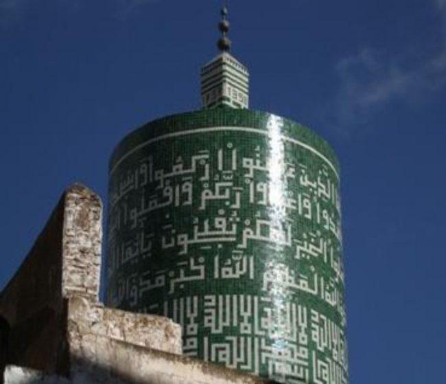 Único minarete circular de Marruecos