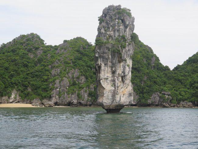 Bellos islotes en la Bahía de Halong